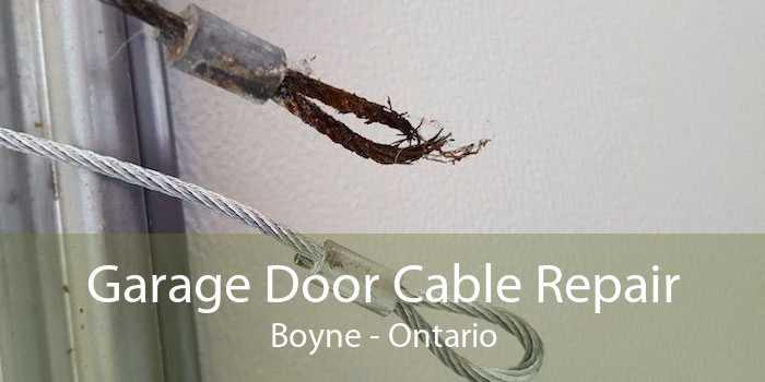 Garage Door Cable Repair Boyne - Ontario