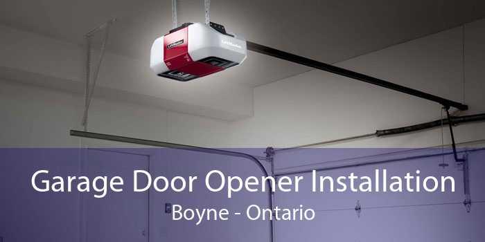 Garage Door Opener Installation Boyne - Ontario