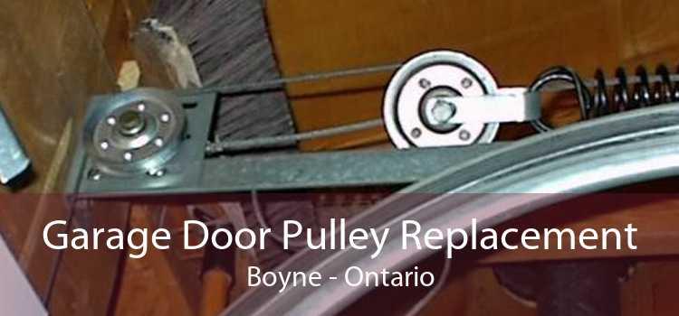 Garage Door Pulley Replacement Boyne - Ontario