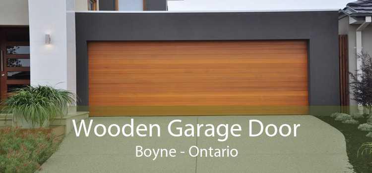 Wooden Garage Door Boyne - Ontario