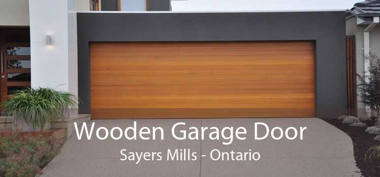 Wooden Garage Door Sayers Mills - Ontario