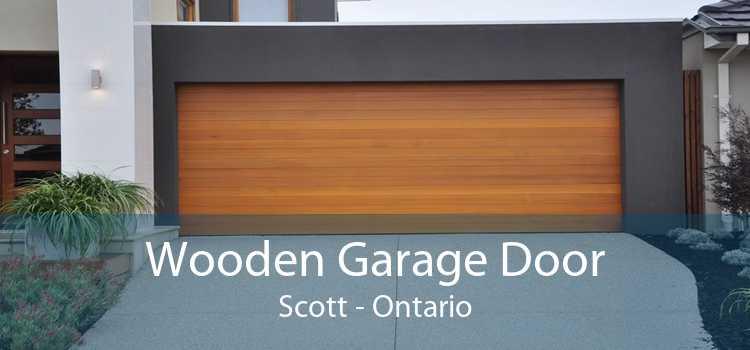 Wooden Garage Door Scott - Ontario